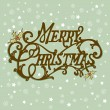 Vintage Christmas Card. Merry Christmas lettering — Stock Vector