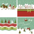 Royalty-Free Stock Vector Image: Set of Retro Christmas Cards