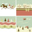 Set of Retro Christmas Cards — Stock Vector
