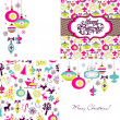 Set of Christmas Retro backgrounds — Stock Vector #16789053