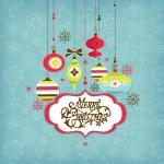 Retro Christmas background — Stock Vector #16789165