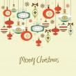 Retro Christmas Decorations. — Stock Vector