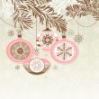 Retro Christmas Ornaments — Imagen vectorial