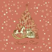 Vintage Christmas Card . — Vector de stock