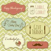 Happy Thanksgiving frames — Stock Vector