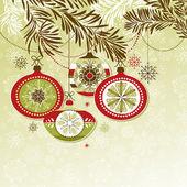 レトロなクリスマスの装飾 — ストックベクタ