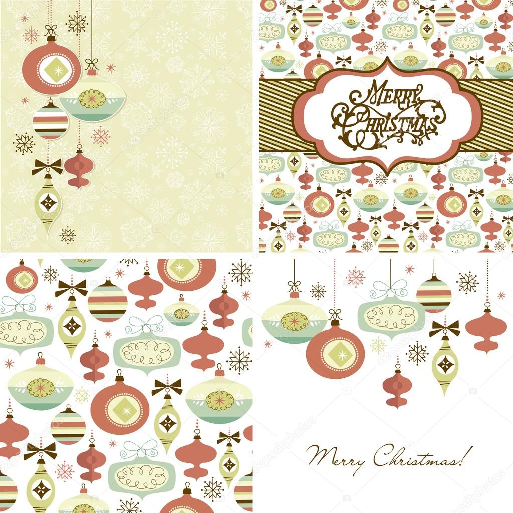Set of Christmas Retro backgrounds  Stock Vector #16789225