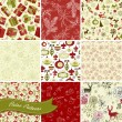 Set of Christmas Seamless backgrounds — Stock Vector #16790475