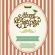 Vintage Mustache Christmas template — Stock Vector