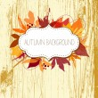 Autumn leaves background — Vektorgrafik