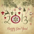 2013 Happy New Year background. — Vettoriali Stock