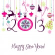 Stock Vector: 2013 Happy New Year background.
