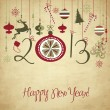图库矢量图片: 2013 Happy New Year background.