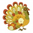 Happy Thanksgiving beautiful turkey card — Stock Vector #16792375