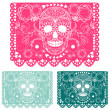 Stock Vector: Day of dead decoration. Papel Picado