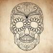Day of The Dead grungy Skull - Stock Vector