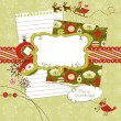 Stock Vector: Cute Christmas scrapbook elements