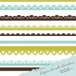 Set of hand-drawn Lace Paper Punch Borders — Vector de stock