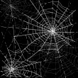 Halloween Spiders web - Imagens vectoriais em stock