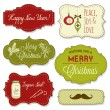 Stock Vector: Vintage Christmas Frames