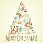 Beautiful Christmas tree illustration. Christmas Card — Stock Vector