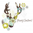 Royalty-Free Stock Vector Image: Christmas deer