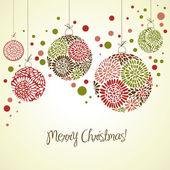 Retro card with Christmas balls — Stock Vector