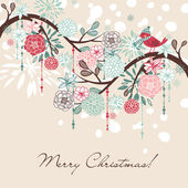 Floral Winter background. — Stock Vector
