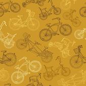 Eamless велосипедов фон — Cтоковый вектор