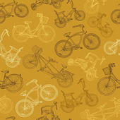 Eamless bicycle background — Vector de stock