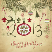 2013 Happy New Year background. — Vector de stock