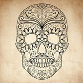 Day of The Dead grungy Skull — 图库矢量图片