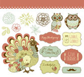 Happy Thanksgiving beautiful clip art — Stock Vector