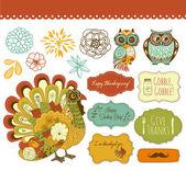 Happy Thanksgiving beautiful clip art — Stock Vector