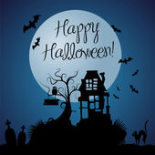 Halloween dark vector background — Vector de stock