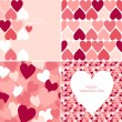 Stock Vector: Valentines seamless pattern