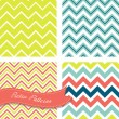 Seamless retro Zig zag patterns — Stock Vector #27378165