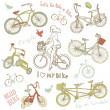 Vintage bicycle set — Stock Vector #27378379