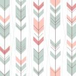 Seamless geometric pattern in retro style — Stock Vector