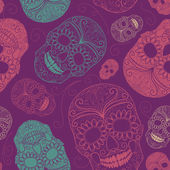 Background with skulls — Vettoriale Stock