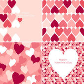 Valentines seamless pattern — Vector de stock