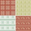 Traditional christmas seamless patterns — 图库矢量图片