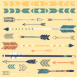 Vector de stock : Set of cute hipster arrows