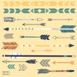 Stok Vektör: Set of cute hipster arrows