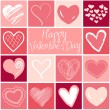Stock Vector: Valentine heart greeting card