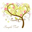 Stylized love tree — Vettoriali Stock