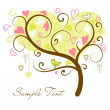 Stylized love tree — Stockvectorbeeld