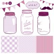Stock Vector: Glass Jars