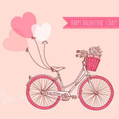 Romantic Valentine's Day Card — Stock Vector