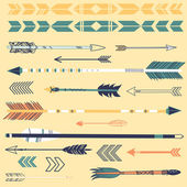 Set of cute hipster arrows — Vector de stock